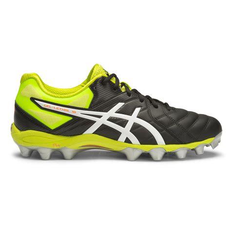 Asics Football Gear asics gel lethal 18 mens football boots black white lime sportitude