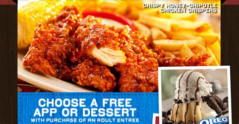 chilis printable coupon free appetizer chili s printable coupon free appetizer or dessert on