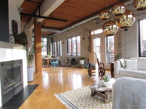 industrial loft industrial living room toronto