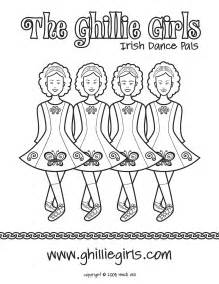 free irish dance dress coloring pages