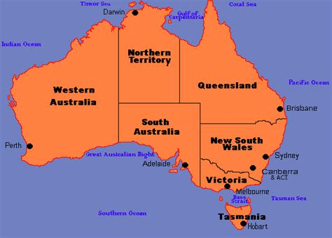 australia map with country names and capitals australia map with states and capital cities 28 images