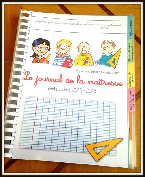 Calendrier 5e Journée Liga Cahier Journal De La Maitresse