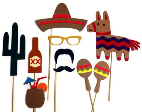 Cinco De Mayo Printable Photo Booth Props | photo booth props 10 piece cinco de mayo set
