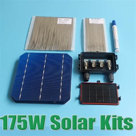 Solar Cell Monocrystalline 156 X 156mm Kit 3 Busbar Solar Panels Best sale 175w diy solar panel kit 6x6 156 mono monocrystalline solar cell tab wire wire flux