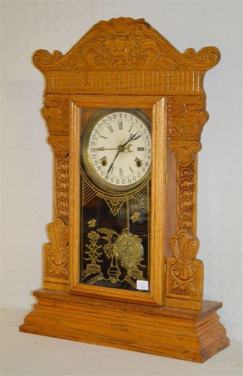 Gilbert Kitchen Clock by Antique Gilbert Quot No Ll Quot Oak Kitchen Clock With Calend