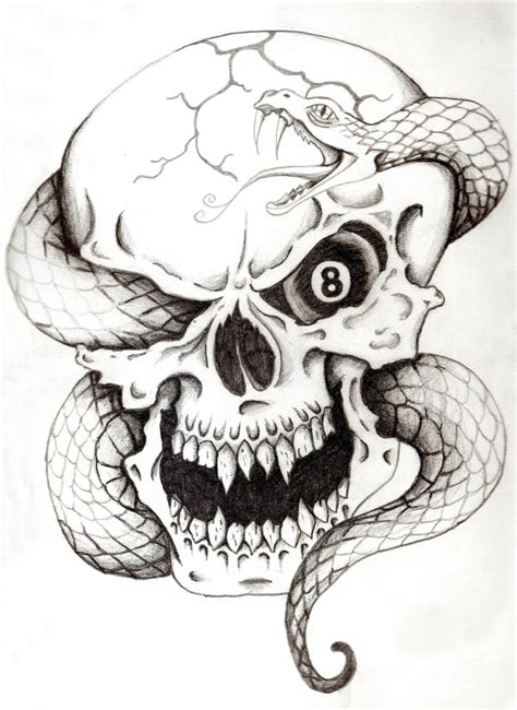 snake and skull tattoo 35 amazing skull and snake tattoos