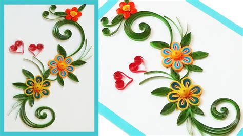 How To Make Paper Quilling Greeting Cards - quill paper how to make beautiful quilling greeting