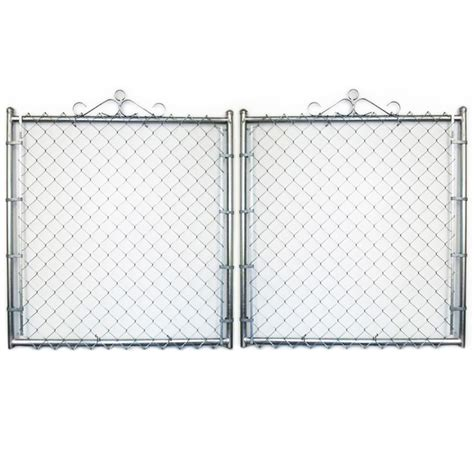 chain link fence home depot in x ft h black fabric