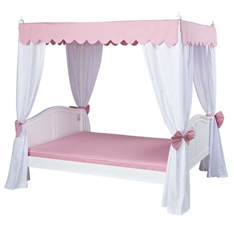 pink canopy bed curtains goldilocks poster bed with pink scallop canopy and curtains
