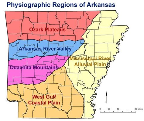 china garden rock ar physiographic regions in arkansas general locations of