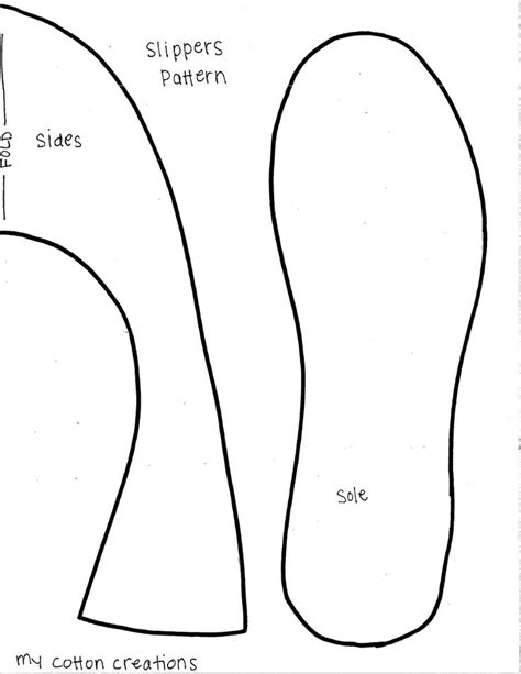 Slipper Template slippers pattern crafting
