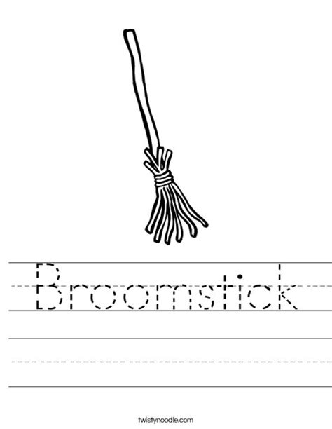 witch broomstick coloring page broomstick worksheet twisty noodle