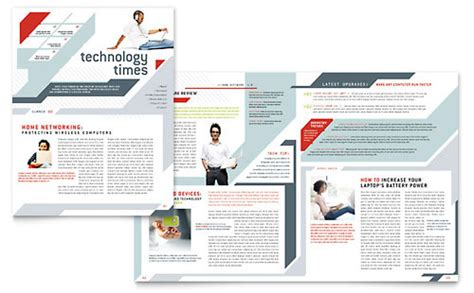 stock layout newsletter technology newsletters templates designs