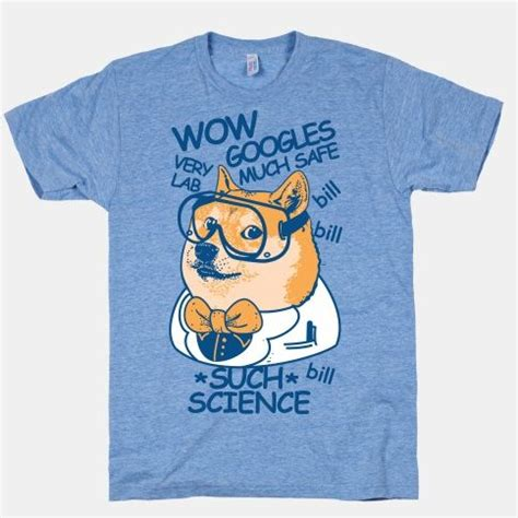 Doge Meme T Shirt - science doge wow such science rosalind grace designs