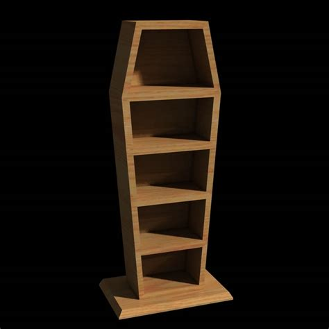 coffin shaped book shelf daz studio sharecg