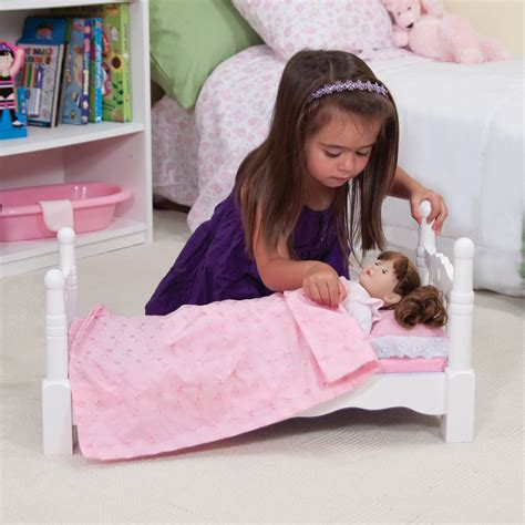 melissa and doug doll bed melissa and doug wooden doll bed baby doll furniture at