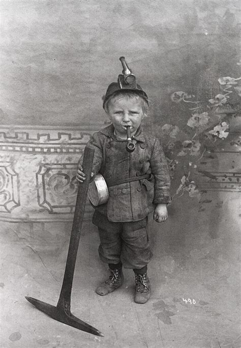 who is the kid in the that mine cadillac comercial 8 year old miner from the early 1900 s pics