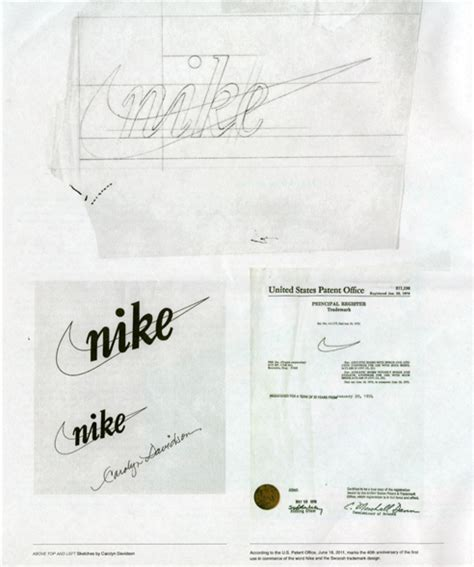 logo history of nike swoosh 40 years fly by print magazine