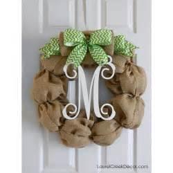 Burlap Wreaths For Front Door Burlap Monogram Wreath For Front Door Decor Burlap Wreath