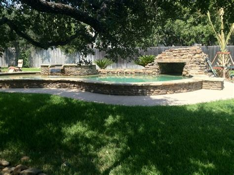 Backyard Wave Pool by Backyard Freeform Pool Spa Grotto Pool