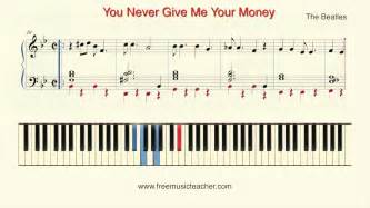 tutorial piano you and i how to play piano the beatles quot you never give me your
