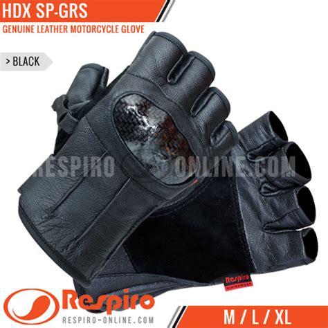 Sarung Tangan Kulit Setengah Jari sarung tangan motor respiro hdx sp grs leather respiro