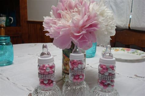 Fancy Baby Shower Decorations by Princess Theme Baby Bottle Favors Bling Baby Bottles