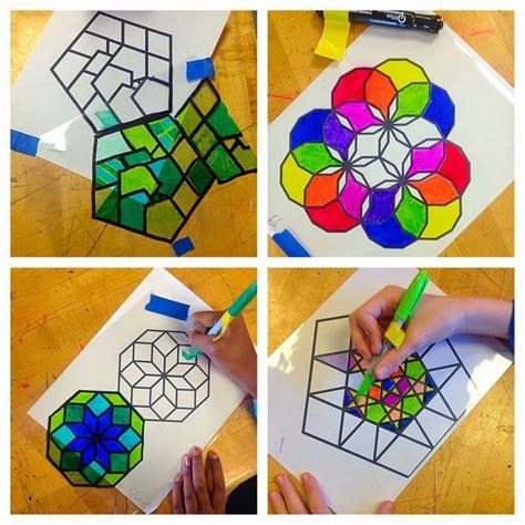 islamic pattern art lesson lesson plan islamic stained glass windows artful artsy