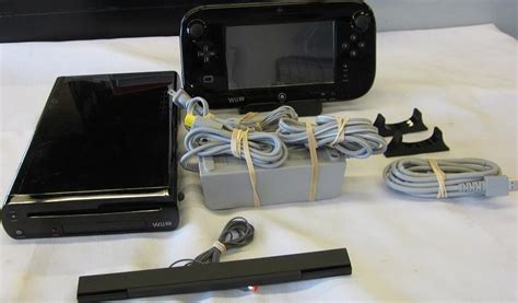 nintendo wii console used nintendo wii u 32 gb black console model number wup 101
