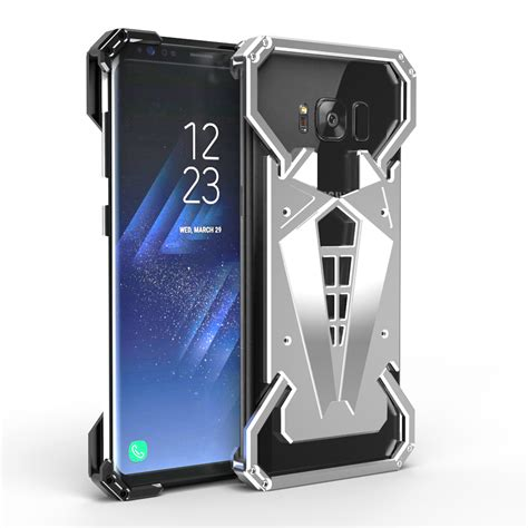 Samsung Galaxy S8 Skin Brushed Metal Bumper Armor Sarung armor shockproof aluminum metal cover for samsung