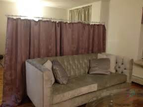Diy Room Divider Curtain Diy Room Divider O So Chic