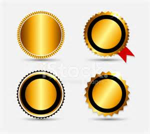 set of gold label template vector illustration stock