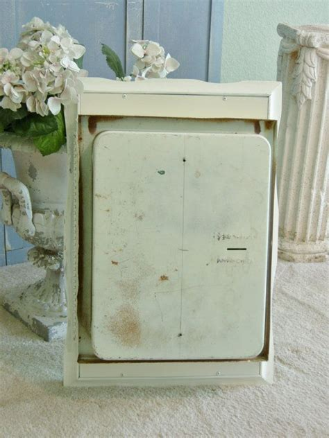 beautiful vintage medicine cabinet and mirror shabby chic