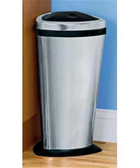 Online Kitchen 30 litre corner press top bin mirror finish review