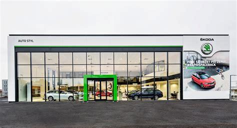bmw showroom exterior skoda reveals new dealer showroom design autoevolution