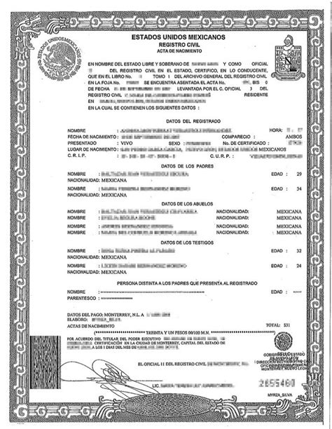 spanish birth certificate translation burg translations