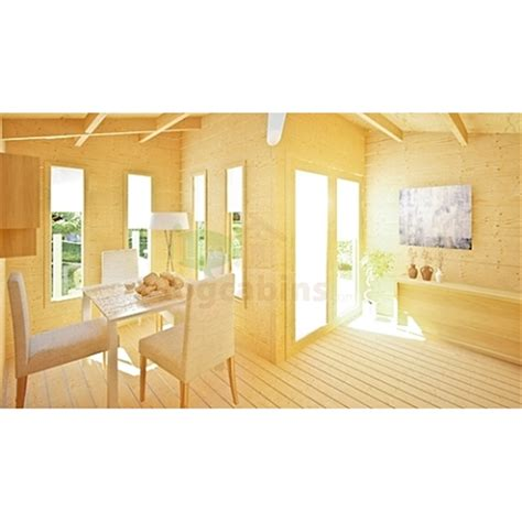 Home Design Suite Wall Thickness 4m X 4m 13 X 13 Pent Style Log Cabin 2054