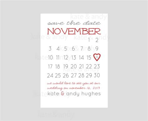 The Date Calendar Card Free Template by Save The Date Calendar Template Great Printable Calendars