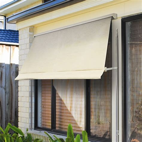 awning bunnings windoware 2 4 x 2 1m safari retractable fixed arm outdoor