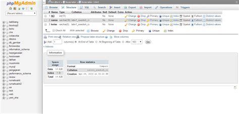 membuat database lewat phpmyadmin cara membuat database di phpmyadmin