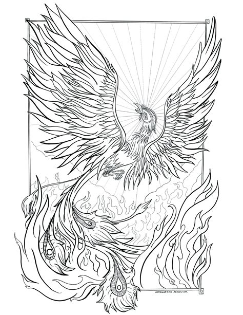 coloring pages phoenix bird adult coloring book pages animals phoenix free adult