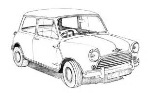 How To Draw A Mini Cooper Step By Step Classic Car Drawings Bob Stokes