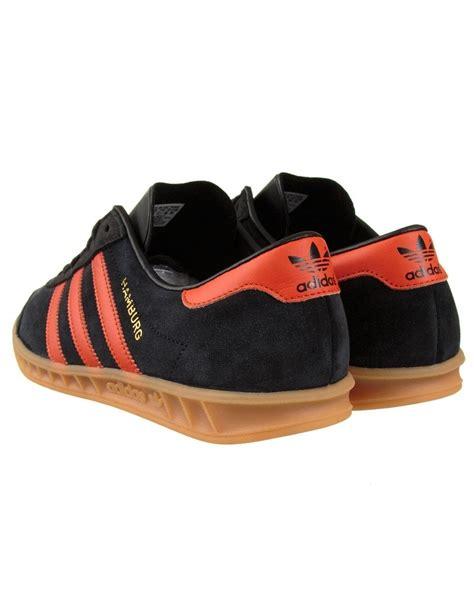 adidas originals hamburg shoes black orange adidas