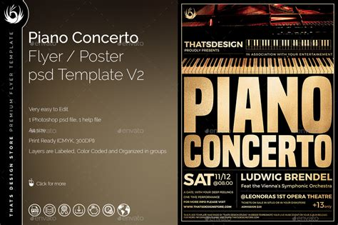 Piano Concerto Flyer Template V2 By Lou606 Graphicriver Flyer Template V2