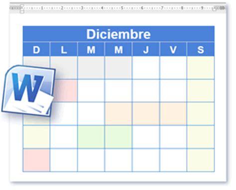 Calendario Word Plantilla Calendario Calendario En Blanco Y Para