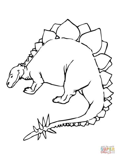 stegosaurus coloring page stegosaurus jurassic dinosaur coloring page free