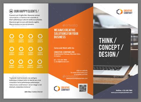 great brochure templates creative brochure template 22