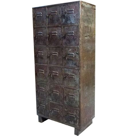 industrial cabinets with drawers 18 drawers iron industrial cabinet for sale at 1stdibs