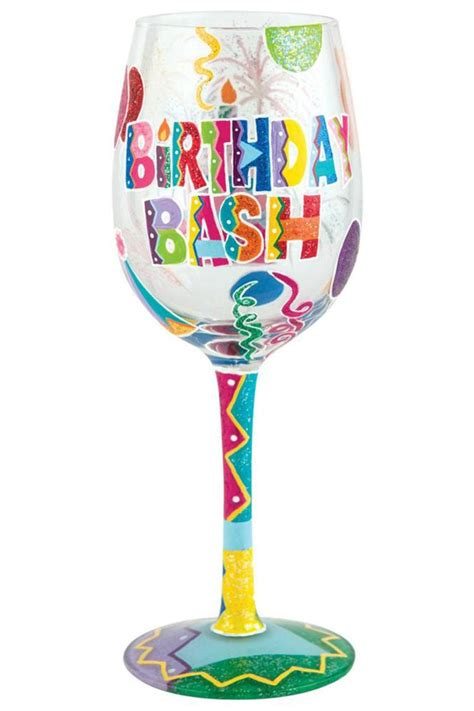 wine glass birthday birthday bash wine glass from alabama by jubilee
