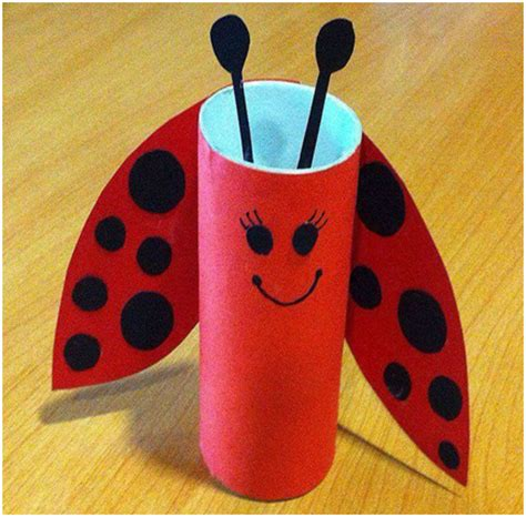 Free Toilet Paper Roll Crafts - ladybug toilet paper roll craft 171 funnycrafts